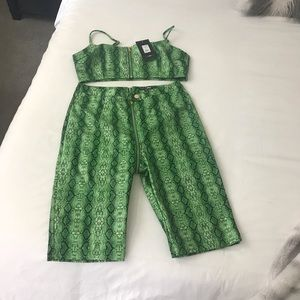 NWT Fashion Nova Snake Skin Art Size XL